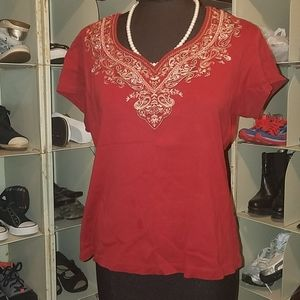 White Stag red top size large
